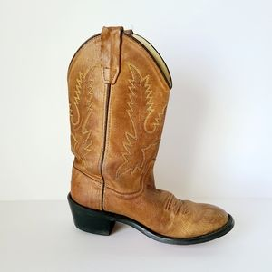 Old West Corona Youth Cowboy Boots